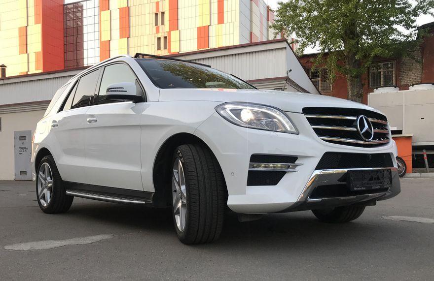 Mercedes-Benz ML300 4 matic 2014г. Автомат (Белый)