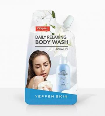 Dermal Yeppen Skin Daily Reaxing Body Wash Aqua Lily Расслабляющее жидкое мыло для тела с увлажняющим и смягчающим эффектом с экстрактом водяной лилии 20 гр