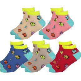 """Детские укороченные носки С5012 """"Смайлики"""""""