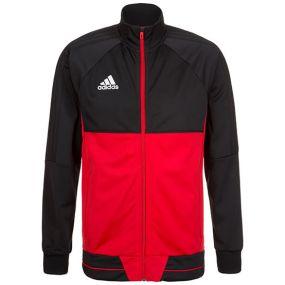 Спортивная кофта adidas Tiro 17 Polyester Jacket чёрно-красная
