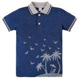 Синие поло для мальчика Джинсовый костюм для мальчика 2-5 лет поло и шорты Bonito