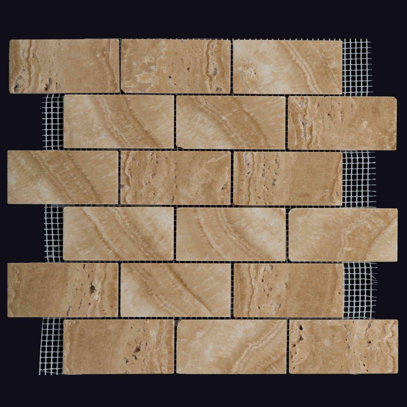 Мозаика из травертина ART.MZ06