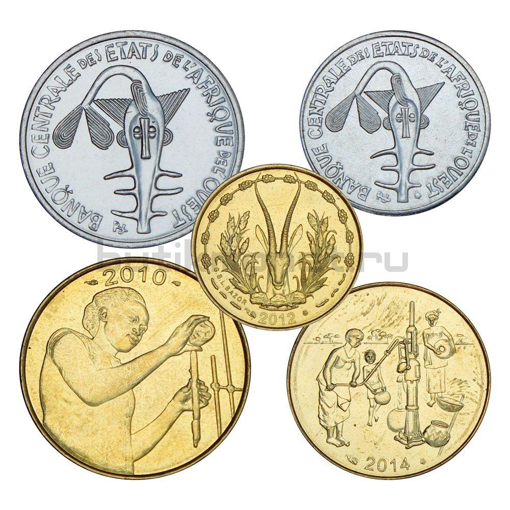 Набор монет 2010-2014 Западная Африка (5 штук)