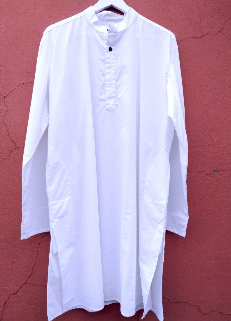 BIG Мужские курты белого цвета, большие размеры (СПб)