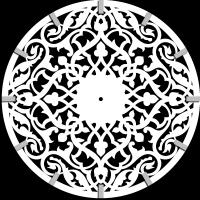 Часы настенные с ажурным орнаментом