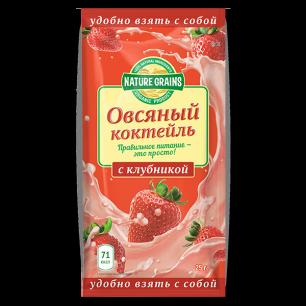 Коктейль овсяный КЛУБНИКА 25 г