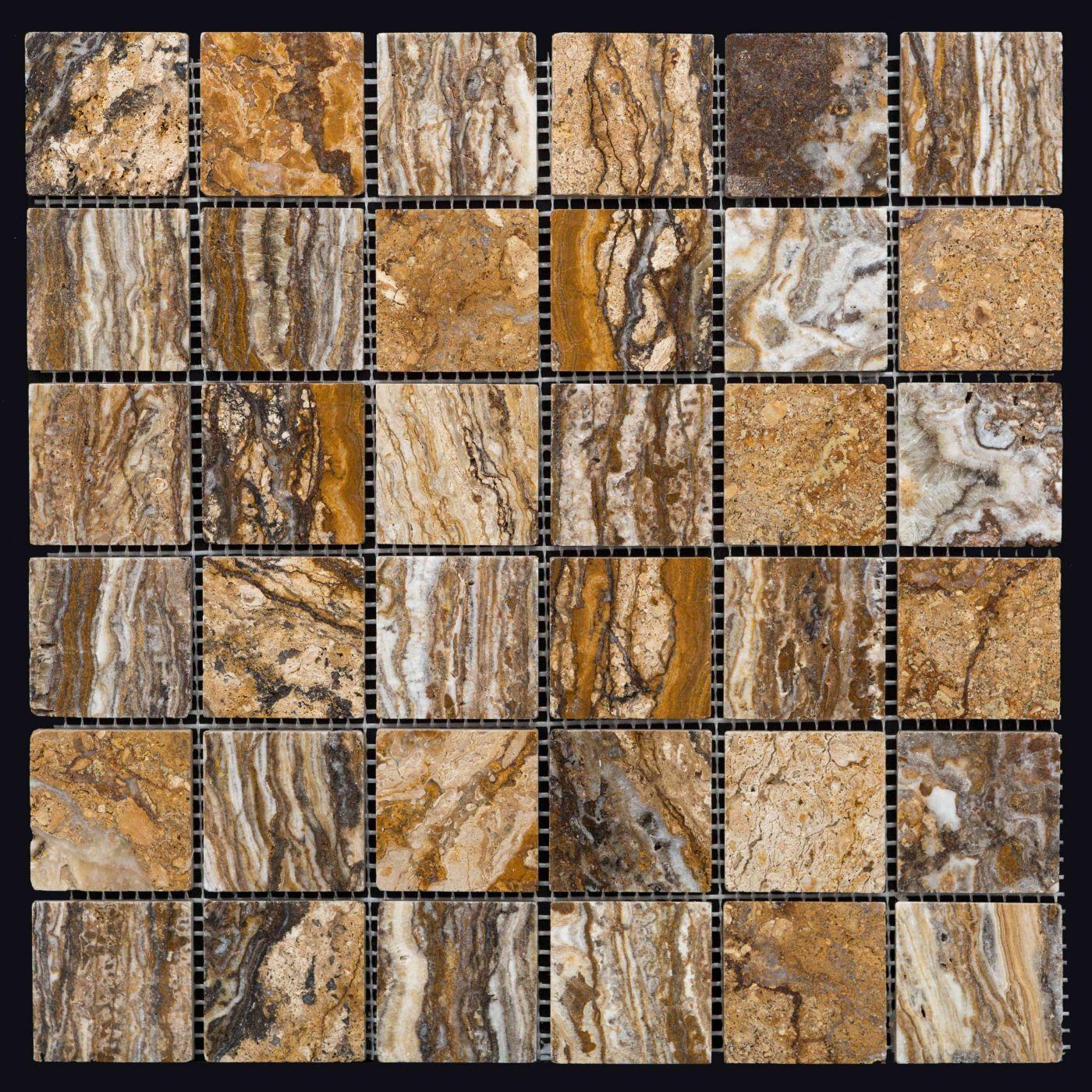 Мозаика из травертина ART. MZ012