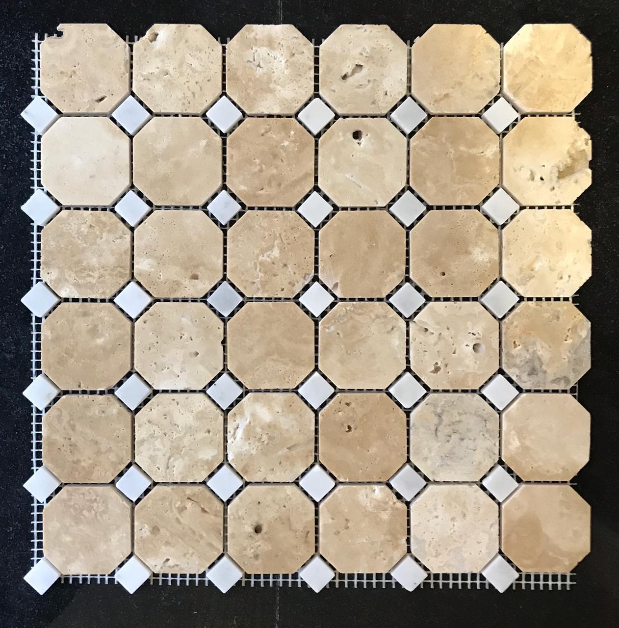 Мозаика из травертина ART. MZ111