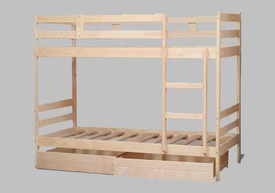 Кровать двухъярусная Эко-12 с ящиками