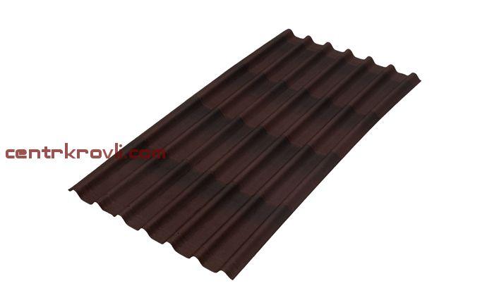 Лист  Черепица Ондулин коричневый