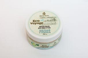 """Мягкое мыло для лица и тела Eco Voyage """"Белая глина"""" 200мл"""