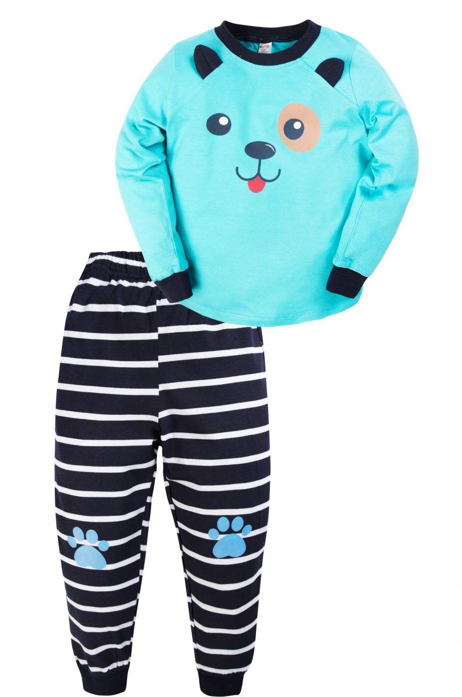 Пижама для мальчика голубая с щенячьей мордочкой
