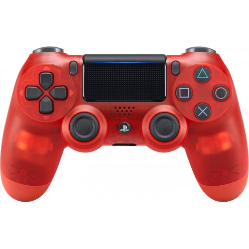 Sony DualShock 4 v2 Crystal Red прозрачный красный