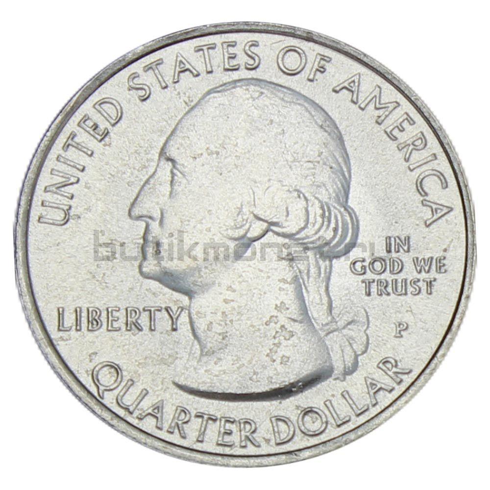 25 центов 2011 США Национальный парк Глейшер P