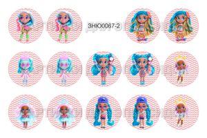 """Картинки для эпоксидного слоя, размер 1""""(25,4мм), фотобумага (1уп = 3 листа по 14 карт.), Арт. ЗНЮ0067-2"""