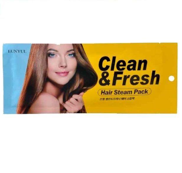 Маска-шапочка для волос с маслом подсолнечника EUNYUL CLEAN & FRESH HAIR STEAM PACK