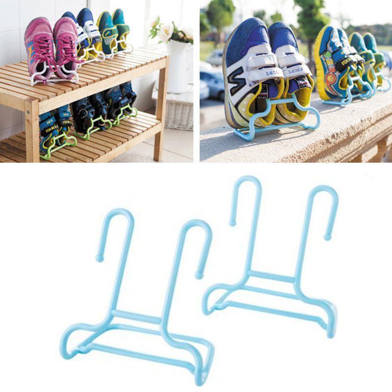 Универсальная подставка-сушилка для обуви, 2 шт., Цвет Голубой