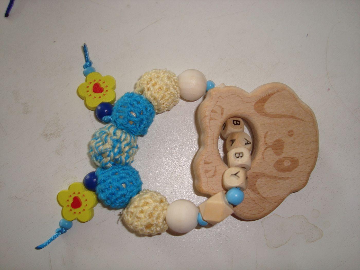 Браслет грызунок - прорезыватель из ясеня