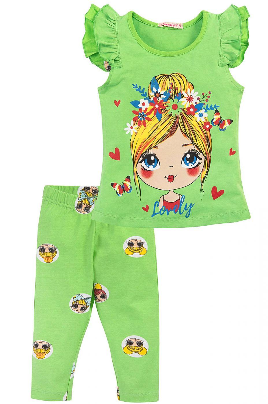 Костюм для девочек Bonito зеленый lovely