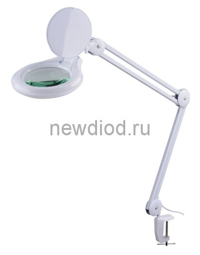 Лампа-лупа кольцевая на струбцине профессиональная 5D-dimming Oreol