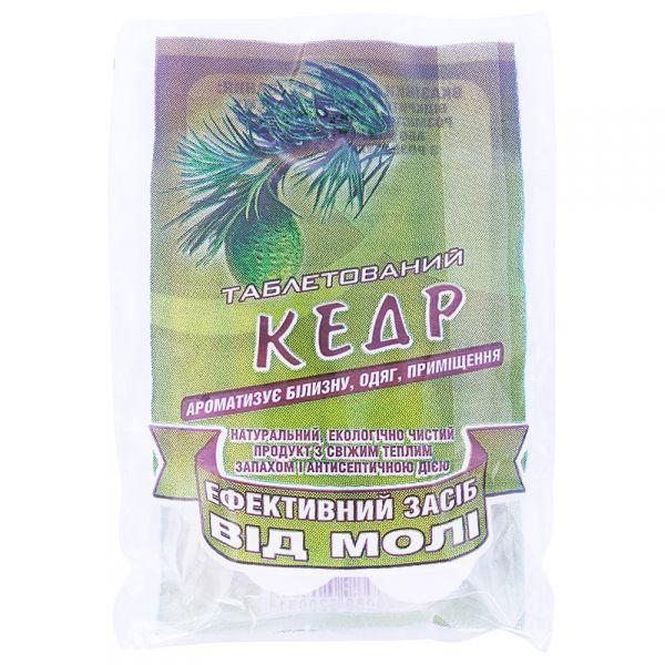 Таблеки от моли (кедр), 4 шт., от БИОН, Украина