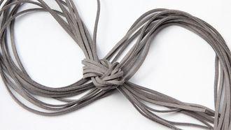 Шнур замшевый, 3*2 мм, Цвет №65, Серый, 1 м/упак