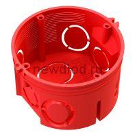 Коробка установ. 80-0501 С безгалогенная (HF) 68*42 с саморезами без соед. Промрукав (245 шт/кор)