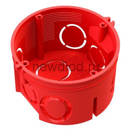 Коробка установочная 80-0501 С безгалогенная (HF) 68х42 с саморезами без соединителя (245шт/кор)