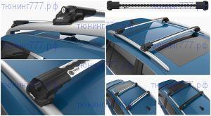 Багажник на рейлинги крыши, Can Turtle Lux, серебристый