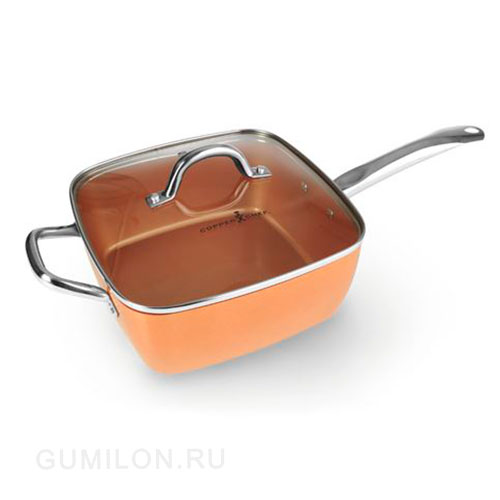 Универсальная сковорода Copper Cook Deep Square Pan