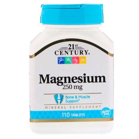 Магний 250 мг от компании 21st Century, 110 таблеток