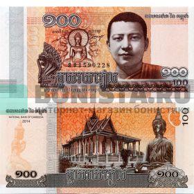 Банкнота 100 риелей 2014 года - Камбоджа - UNC