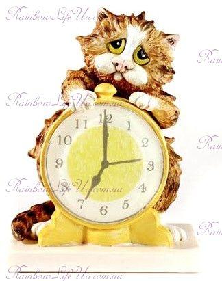 "Статуэтка кот будильник ""Enesco"""