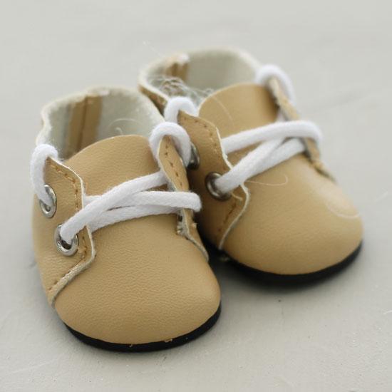 Обувь для кукол - ботиночки 5 см (бежевые)