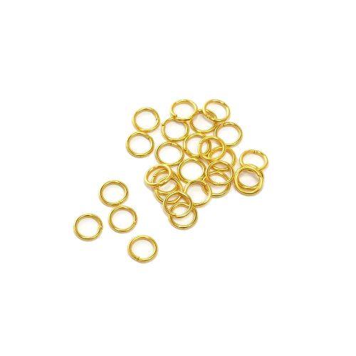 Колечки соединительные, одинарные, Золото, 50 шт/упак.