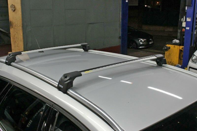 Багажник на крышу Ford Focus 3 sw universal 2011-..., Turtle Air 2, аэродинамические дуги на интегрированные рейлинги (серебристый цвет)