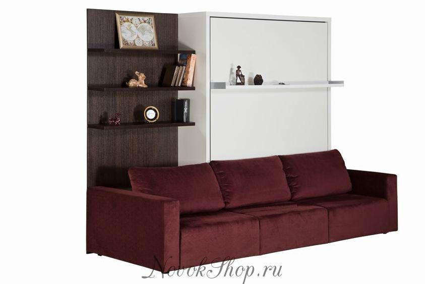Шкаф-диван-кровать СМАРТ-3 ПЛД+КД