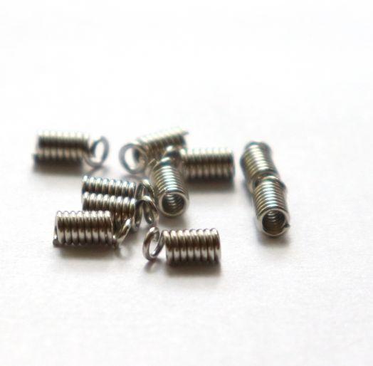 Концевик-пружинка D-3 мм, Никель, 10 шт/упак