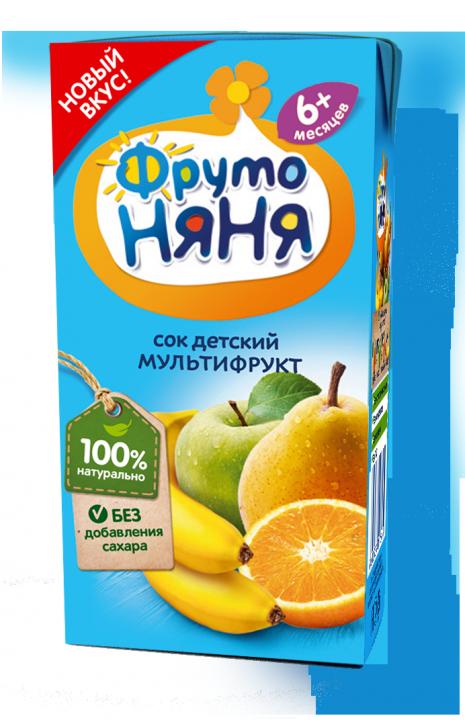 Сок Фрутоняня 0,2л Мультифруктовый
