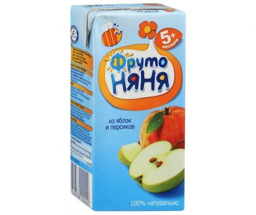 Сок Фрутоняня 0,2л яблоко/персик б/сах. фн