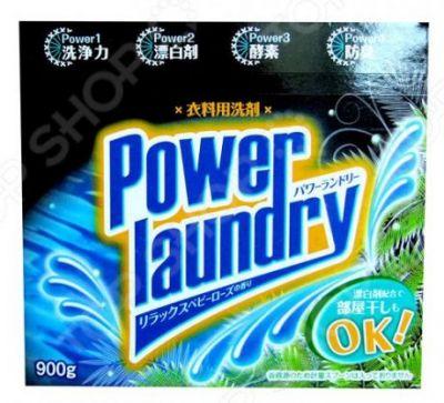 """""""Mitsuei"""" """"Power Laundry"""" Мощный стиральный порошок с усиленной формулой ферментов, дезодорирующими компонентами и отбеливателем. С ароматом розовых бутонов. 0,9 кг."""