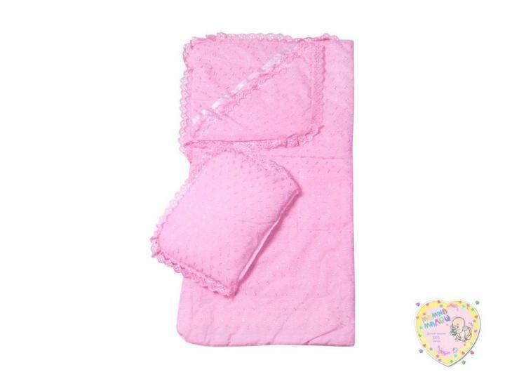 Комплект на выписку 10 предметов весна-лето 01498 (батист розовый)