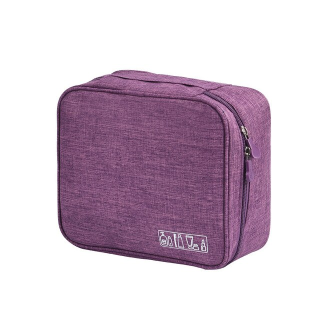 Дорожный органайзер для косметики TRAVEL TOILETRY POUCH, цвет фиолетовый