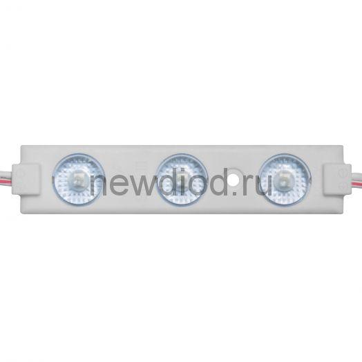 Модуль светодиодный ELF 3SMD диод 2835, с линзой, 160гр.,12В, IP 65, STD, белый
