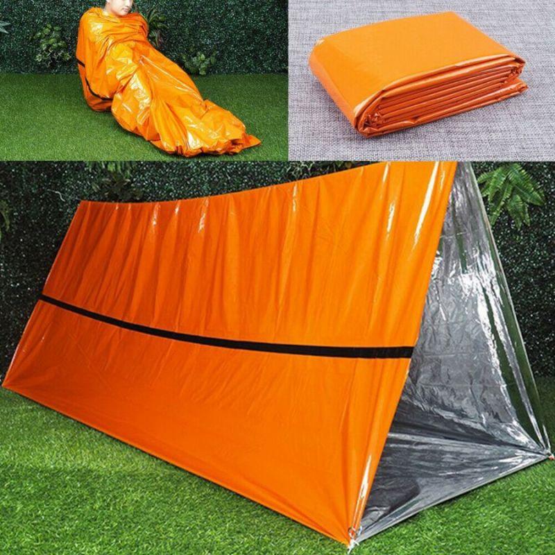 Аварийный Спальный Мешок-Палатка Из Полиэтилена Emergency Thermal Blanket, 210х130 См