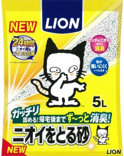 Lion Наполнитель бентонитовый для кошачьего туалета 5 л