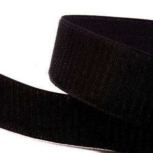 """Лента-контакт """"Велкро"""", ширина 25мм, пара, цвет черный (1уп = 5м)"""