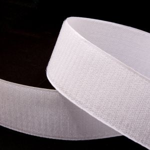 "Лента-контакт клеевая ""Велкро"", ширина 20мм, пара, цвет белый (1уп = 5м)"