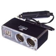 NEW GALAXY Разветвитель прикуривателя 2 гнезда + 2 USB, 3,1A
