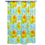 """VETTA Шторка для ванной, ткань полиэстер с утяжелит, 180x180см, """"Завитки"""", Дизайн GC"""